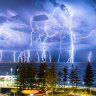 A cracking 300,000 lightning strikes light up South West coast as weekend weather turns wild