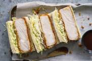 Katsu finger sandwiches.