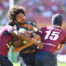 Queensland Reds thrash ACT Brumbies in searing heat