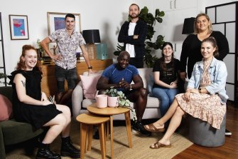 The cast of the SBS documentary series Lost For Words.