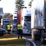 Truckies warn of supply shortages unless they're recognised as essential workers