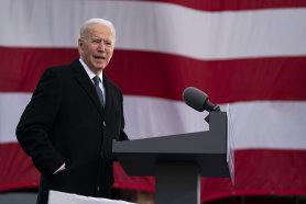 President-elect Joe Biden speaks on Tuesday.