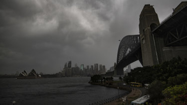 Strong winds and storms have hit Sydney.