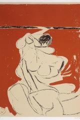 Figure on an Orange Background 1961 by Brett Whiteley (in his catalogue raisonnee).