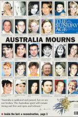 A special commemorative front page, October 20, 2002.