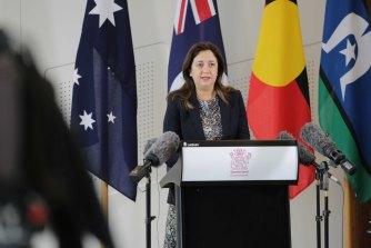 Queensland Premier Annastacia Palaszczuk addresses the media on Friday