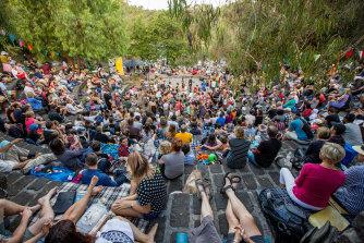 The Fairfield Amphitheatre when it's got a full crowd.