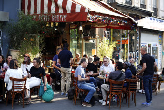 Paris City Hall has authorised the reopening of outside seating areas but indoor tables remain closed to customers until at least June 22.