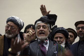 Abdullah Abdullah disputes the election result.