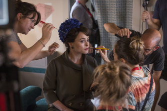 "Helena Bonham Carter is transformed into Princess Margaret for season 3 of ""The Crown""."