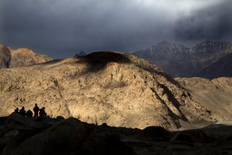 The treacherous terrain of the Ladakh region.