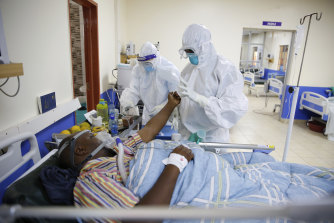 The intensive care unit of the hospital in Machakos, Kenya. Africa, whose 1.3 billion people account for 18 per cent of the global population, has received less than 2 per cent of all vaccine doses administered globally.