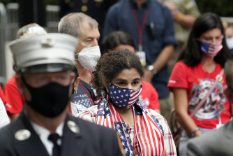 Mourners pay tribute in New York City on the anniversary of the September 11 attacks.