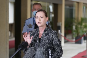 Health Minister Yvette D'Ath reads the riot act at three NSW men accused of illegally crossing the Queensland border from a COVID hotspot to see the NRL grand final.