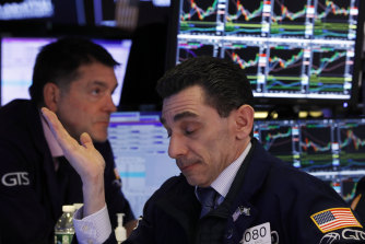 Wall Street was grappling with more steep losses on Wednesday.