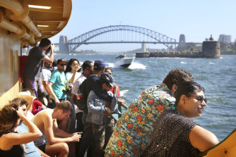 The government cites too much crowding on Sydney's ferries on Sundays as a reason to hike the fare cap.
