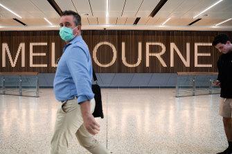 International flights resumed into Melbourne on April 8.