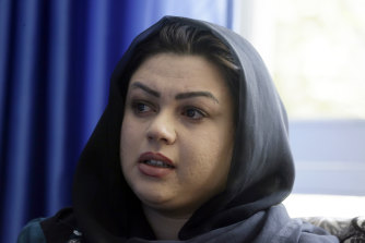Zarmina Kakar a women's rights activist in Kabul, Afghanistan. Kakar was 1 year old when the Taliban entered Kabul the first time in 1996, and recalled a time when her mother took her out to buy her ice-cream, during the Taliban rule. Her mother was whipped by a Taliban fighter for revealing her face for a couple of minutes.
