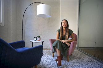 Head Psychologist and Founder of the Indigo Project Mary Hoang sits in her empty office space in Surry Hills.