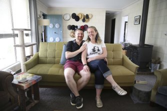 Stuart Bucknell and Katie Bell upgraded from an apartment to a house because prices fell and they were forced to save.