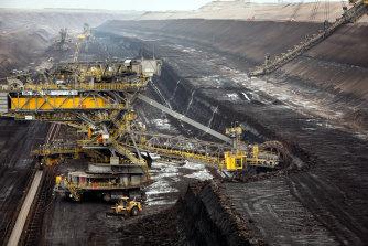 The Welzow-Sud open-cast coal mine in Germany's Brandenburg state.