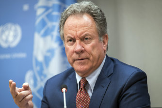 """World Food Program chief David Beasley said 2021 was going to be """"catastrophic""""."""