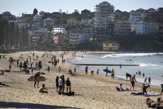 Crowds enjoyed two weeks of warm winter weather at Manly.
