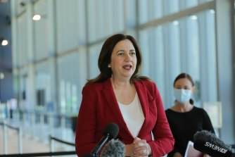 Queensland Premier Annastacia Palaszczuk says her state already enjoys more freedoms than will be available to NSW and Victorian residents when 80 per cent of people aged 16 and over are fully vaccinated.