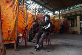 Voting takes place in Dharmsala on Sunday to elect a new political leader.