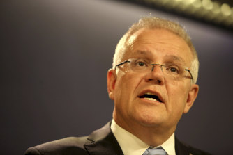 """Prime Minister Scott Morrison: """"I'm inclined not to proceed on that visit."""""""