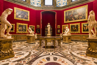 The Tribuna in the Uffizi gallery, Florence.