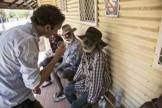 First Aboriginal opthmalogist Kris Rallah-Baker working at Sunrise Health Service Aboriginal Corporation Mataranka Northern Territory.