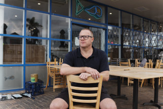 Paul O'Connor, owner of the Starfish Cafe in Batemans Bay, hasn't served a customer since March.