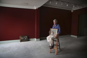 Art dealer Denis Savill at his Paddington gallery which is closing permanently.