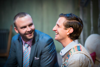 Andrew Henry, left, and Aaron Glenane, who will appear in the live-streamed reading of the play.