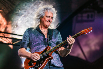 Brian May performs during The Rhapsody Tour in February in Melbourne.