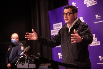 Premier Daniel Andrews announced 10 new deaths on Sunday.