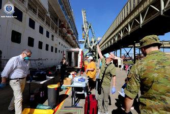 The repatriation of Ruby Princess' international crew members began on Tuesday.