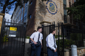 Waverley College students leaving school in May after a student was diagnosed with COVID-19.