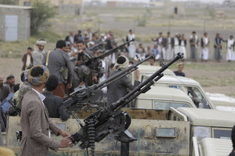 Houthi rebels in Sanaa, Yemen, last month.