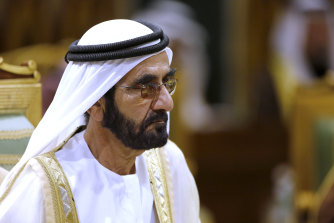 Prime Minister of the United Arab Emirates, Sheikh Mohammed bin Rashid Al Maktoum.