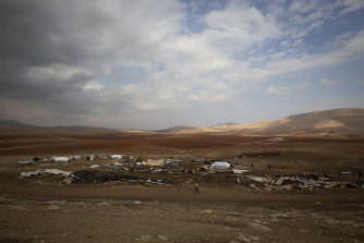 The remote village of Khirbet Humsu in the Jordan Valley in the West Bank.