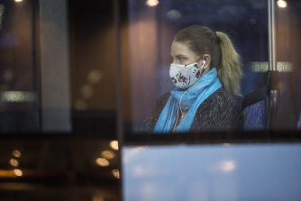 Masks will not be required on public transport from Monday, but they are still recommended.