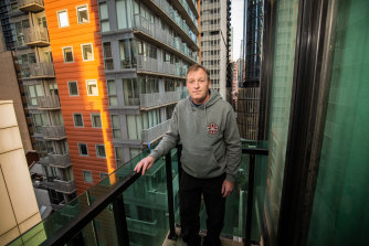 Colin Johnstone is relieved his stay at a serviced apartment will be extended while he searches for long-term housing.