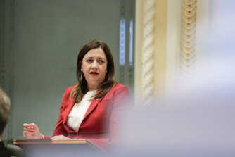"""Queensland Premier Annastacia Palaszczuk warned members of the community who had not yet had their first dose of a COVID vaccine """"we've done all we can to keep you safe""""."""
