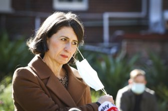Premier Gladys Berejiklian tells reporters that COVID-19 case numbers are likely to increase further in coming days.