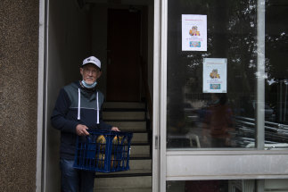 """Philip Grandfield, 73, says meeting residents of other buildings while volunteering during the COVID-19 pandemic has been """"an eye-opener""""."""