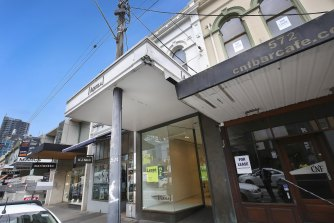 Empty stores in South Yarra.