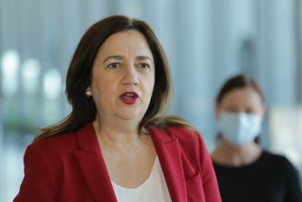 Queensland Premier Annastacia Palaszczuk fired up when asked whether the state's borders would reopen with NSW and Victoria when an 80 per cent vaccination target was met.