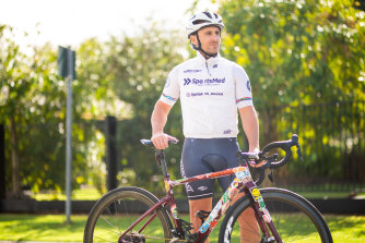 Aged care worker Mat Stone brings his many life experiences that include competitive cycling to his job.